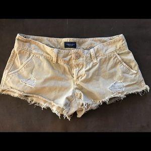 AE khaki shorts, 0